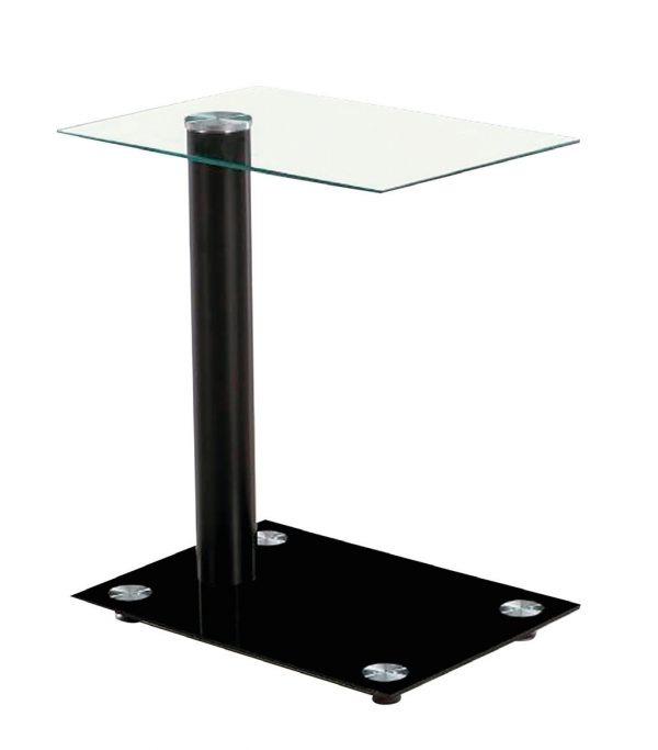 Mesa auxiliar cristal cuadrada