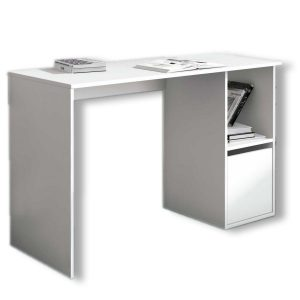 Mesa de estudio blanca modelo Aura